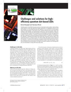 efficiency quantum dot-based LEDs
