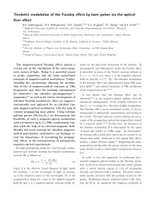 Terahertz modulation of the Faraday effect by laser pulses via the