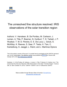 IRIS observations of the solar transition region