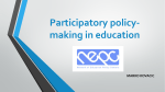 Participatory Policy Making in Education – Marko Kovacic