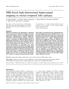 MRI-based high-dimensional hippocampal mapping in