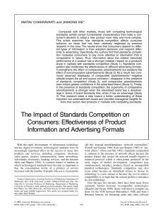 The Impact of Standards Competition on Consumers