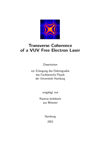 Transverse Coherence of a VUV Free Electron Laser
