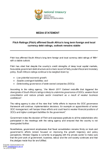 MEDIA STATEMENT Fitch Ratings (Fitch)