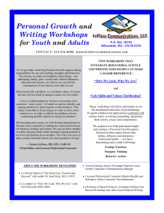 Personal Growth and Writing Workshops