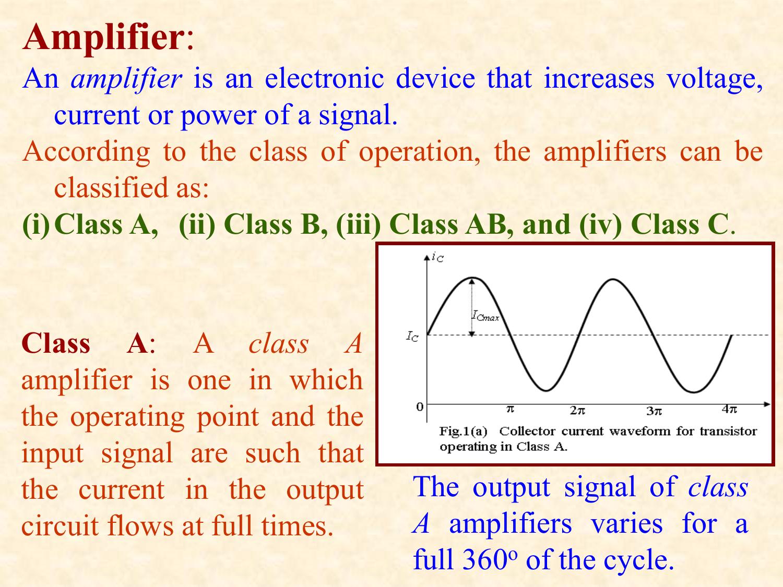 Class B Amplifier Current Circuit Transistor