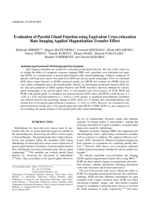 Evaluation of Parotid Gland Function using Equivalent - J