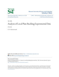 Analysis of Local Plate Buckling Experimental Data