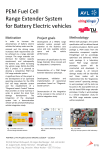 PEM Fuel Cell Range Extender System for Battery Electric vehicles