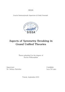 Aspects of Symmetry Breaking in Grand Unified Theories