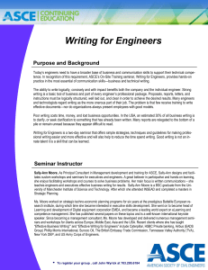 Writing for Engineers