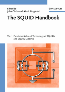 The SQUID Handbook. Vol. 1, Fundamentals and Technology of