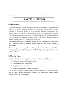 11 CHAPTER 11: FOOTINGS