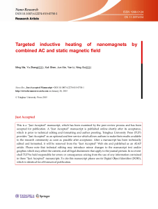 Targeted inductive heating of nanomagnets by