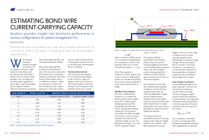 estimating bond wire current-carrying capacity