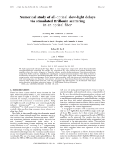 Numerical study of all-optical slow-light delays via