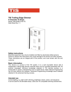 TIS Trailing Edge Dimmer 6 Channels 10 Amps