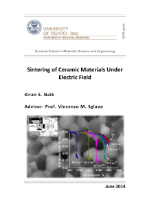 Sintering of Ceramic Materials Under Electric Field - Unitn