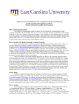 DE Feasibility Study - East Carolina University