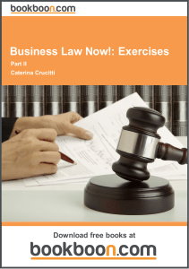 Business Law Now!: Exercises - Open University of Tanzania