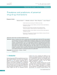 Prevalence and predictors of potential drug