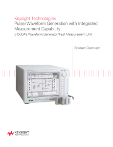 Keysight Technologies Pulse/Waveform Generation with Integrated