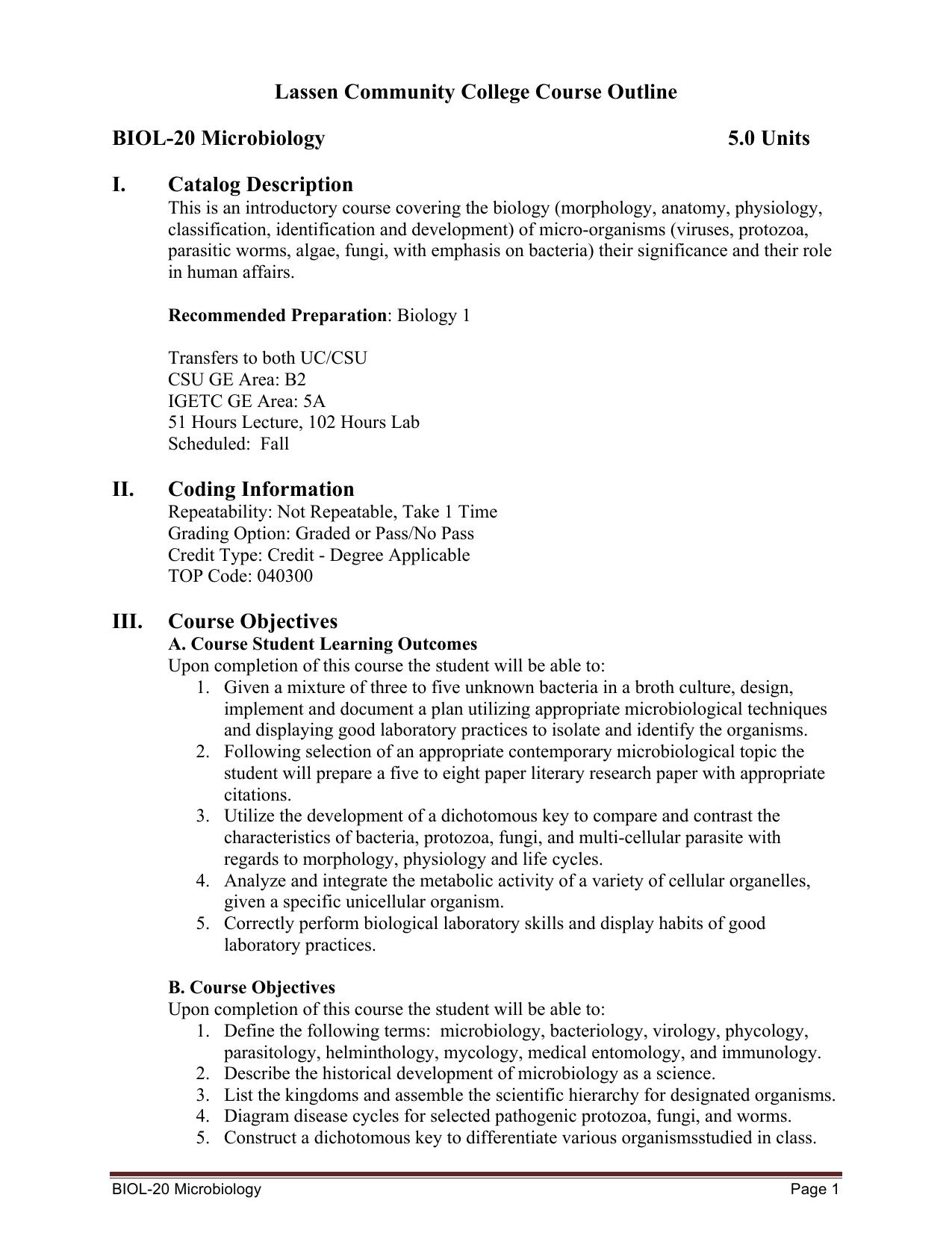 3-2014 BIOL 20 Microbiology