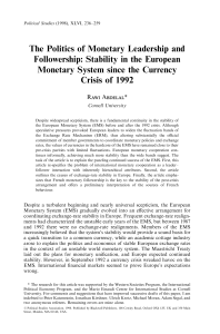 The Politics of Monetary Leadership and