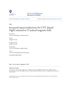 Increased superconductivity for CNT doped