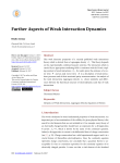 Further Aspects of Weak Interaction Dynamics