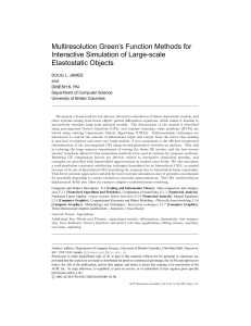 Multiresolution Green`s Function Methods for Interactive