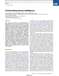 Fractionating Human Intelligence