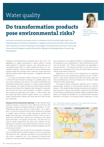 Eawag News 70: Do transformation products pose environmental