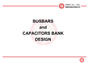 BUSBARS and CAPACITORS BANK DESIGN