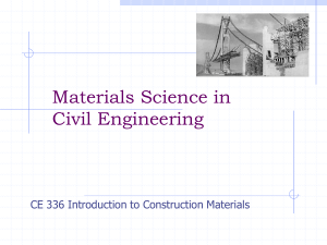 Intro to Civil Engineering Materials