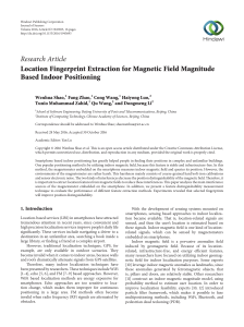 Location Fingerprint Extraction for Magnetic Field Magnitude Based