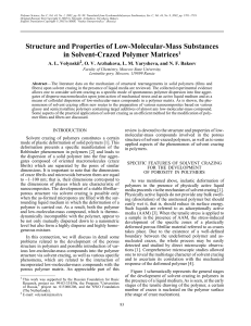 Structure and Properties of Low-Molecular
