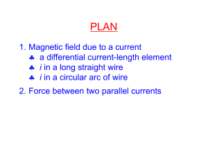1. Magnetic field due to a current a differential current
