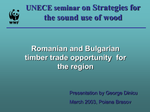 Romanian and Bulgarian timber trade opportunity for the