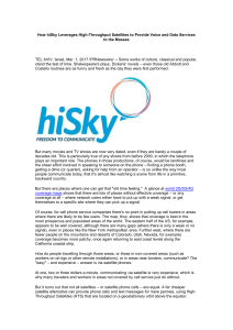 How hiSky Leverages High-Throughput