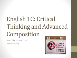 English 1C: Critical Thinking and Advanced Composition