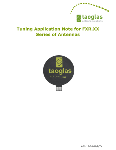Tuning Application Note for FXR.XX Series of Antennas