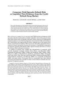 Corporate Yield Spreads: Default Risk or Liquidity? New Evidence