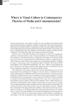 Where is Visual Culture in Contemporary Theories of Media and
