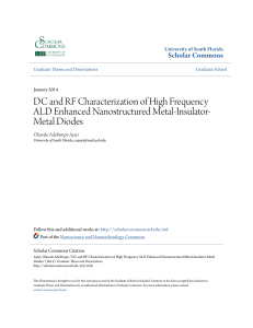 DC and RF Characterization of High Frequency ALD Enhanced