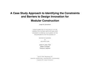 A Case Study Approach to Identifying the Constraints
