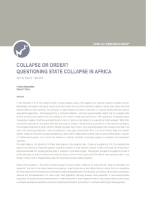 collapse or order? questioning state collapse in africa