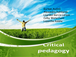 Incorporating critical pedagogy in the classroom
