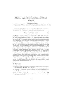 Minimal separable quantizations of Stäckel systems