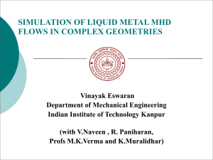 simulation of liquid metal mhd flows in complex geometries